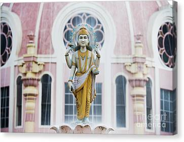 Dhanvantari Fountain Statue Puttaparthi India Canvas Print by Tim Gainey
