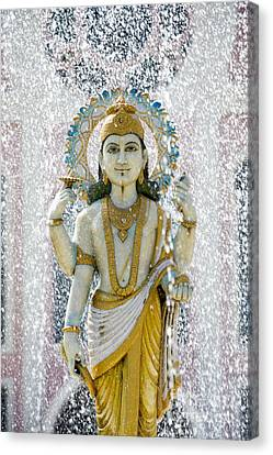 Dhanvantari Fountain Statue Puttaparthi Canvas Print by Tim Gainey