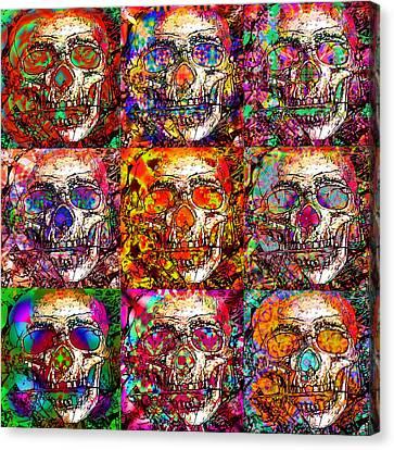 Dia De Los Muertos Canvas Print by Devalyn Marshall