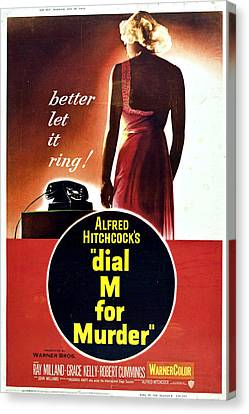 Dial M For Murder - 1954 Canvas Print by Georgia Fowler