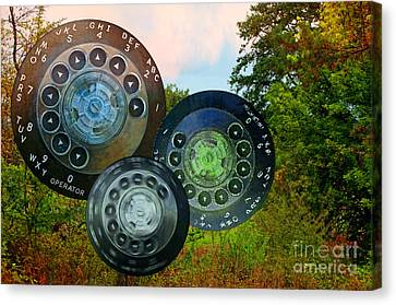 Dialing Up Fall Canvas Print by Gwyn Newcombe