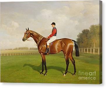 Diamond Jubilee Winner Of The 1900 Derby Canvas Print by Emil Adam