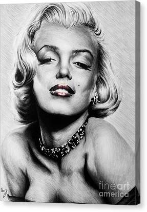 Diamonds Are A Girls Best Friend   Hot Lips Edition Canvas Print by Andrew Read