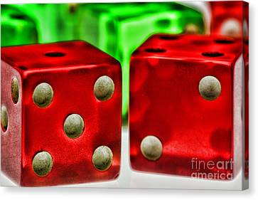Dice - Lucky Seven Canvas Print by Paul Ward