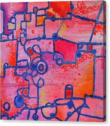 Dichotomy  Original Abstract Oil Painting By Regina Valluzzi Canvas Print by Regina Valluzzi