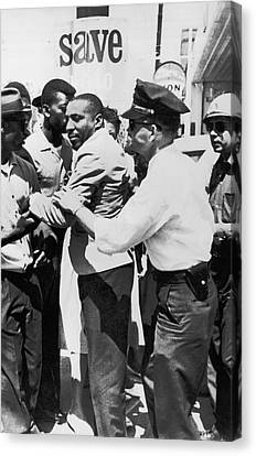 Dick Gregory Civil Rights Canvas Print by Underwood Archives