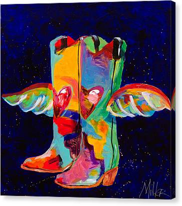 Die With Your Boots On Canvas Print by Tracy Miller