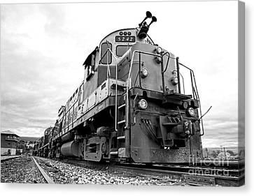 Diesel Electric Locomotive Canvas Print by Olivier Le Queinec