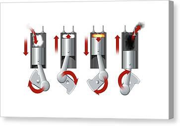 Diesel Engine Cylinder Canvas Print by Mikkel Juul Jensen