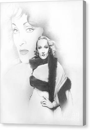 Dietrich Canvas Print by TPD Art