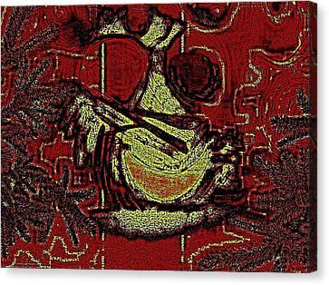Digital Abstract Canvas Print by HollyWood Creation By linda zanini