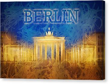Digital-art Brandenburg Gate II Canvas Print by Melanie Viola
