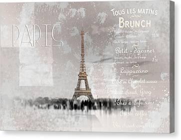 Digital-art Eiffel Tower II Canvas Print by Melanie Viola