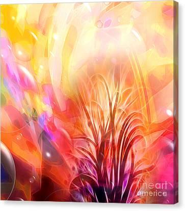 Digital Festival Canvas Print by Lutz Baar