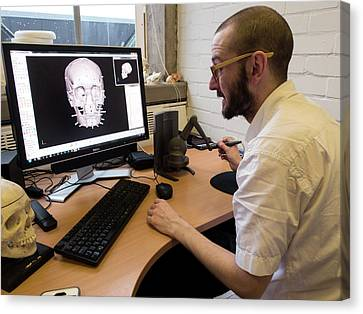 Digital Forensic Facial Reconstruction Canvas Print by Louise Murray