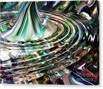 Digital Liquid Canvas Print by Cheryl Young