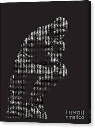 digital Thinker Canvas Print by Igor Kislev