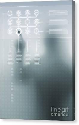 Digital User Interface Canvas Print by Carlos Caetano