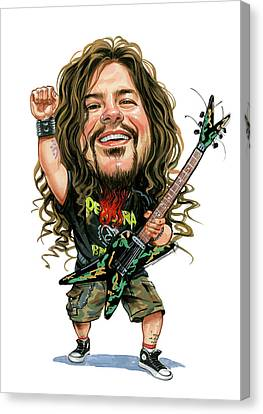 Dimebag Darrell Canvas Print by Art