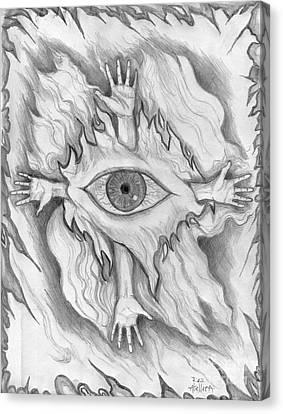 Dimension 4 Canvas Print by Roz Abellera Art