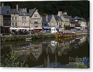 Dinan - Old Town By The Riverside Canvas Print by Heiko Koehrer-Wagner