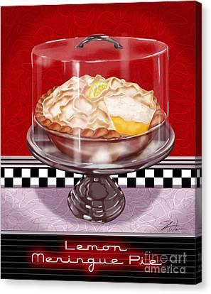 Diner Desserts - Lemon Meringue Pie Canvas Print by Shari Warren