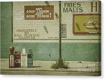 Diner Rules Canvas Print by Andrew Paranavitana