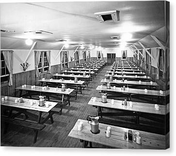 Dining Hall Interior Canvas Print by Underwood Archives