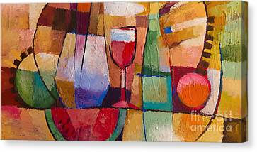 Dining Canvas Print by Lutz Baar
