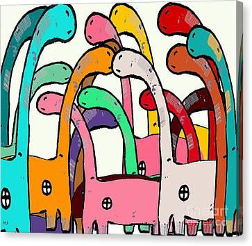Dino Disco  Canvas Print by Bri B