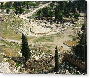 Dionysus Amphitheater Canvas Print by Ellen Henneke