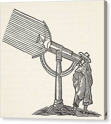 Dioptric Telescope Canvas Print by French School