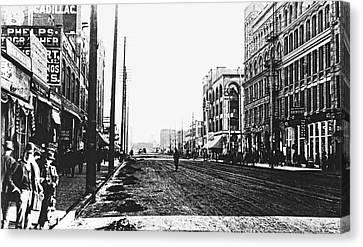Downtown Dirt Spokane C. 1895 Canvas Print by Daniel Hagerman