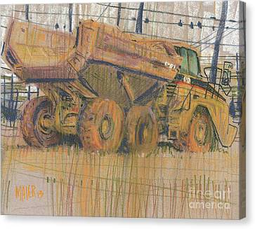 Dirt Mover Canvas Print by Donald Maier