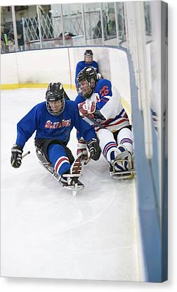 Disabled Ice Hockey Canvas Print by Jim West