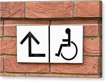 Disabled Sign Canvas Print by Tom Gowanlock