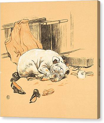 Disappointment At Not Finding The Chocolates Canvas Print by Cecil Charles Windsor Aldin