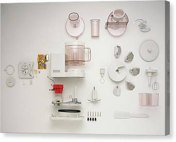 Disassembled Food Processor Canvas Print by Dorling Kindersley/uig