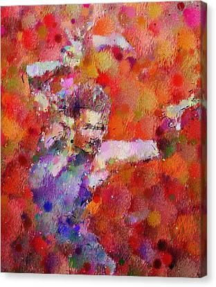 Disco Girl Contemporary  Canvas Print by Georgiana Romanovna