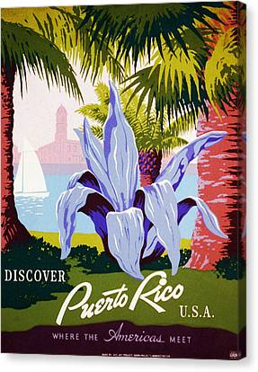 Discover Puerto Rico Canvas Print by Georgia Fowler