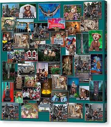 Disney Bear Collage Canvas Print by Thomas Woolworth