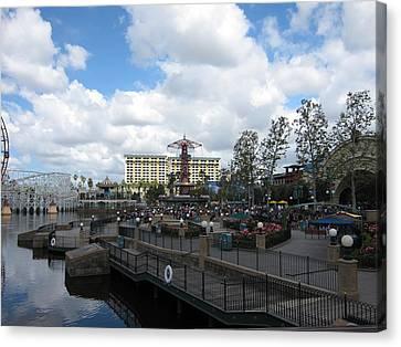 Disneyland Park Anaheim - 121238 Canvas Print by DC Photographer