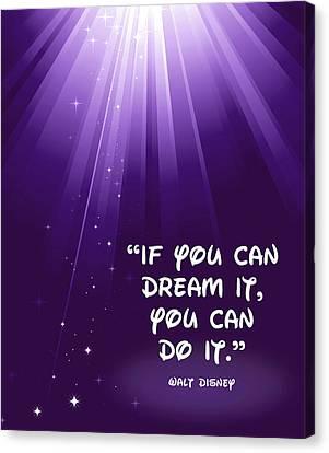 Disney's Dream It Canvas Print by Nancy Ingersoll