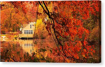 Display Of Beauty Canvas Print by Lourry Legarde
