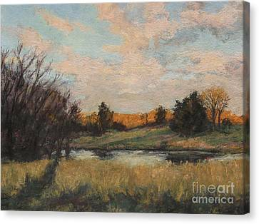 Distant Glow Canvas Print by Gregory Arnett