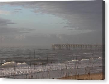 Distant Pier Canvas Print by Static Studios