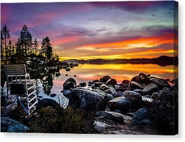 Diver's Cove Lake Tahoe Canvas Print by Scott McGuire