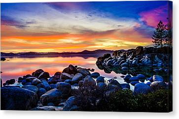 Diver's Cove Lake Tahoe Sunset Canvas Print by Scott McGuire