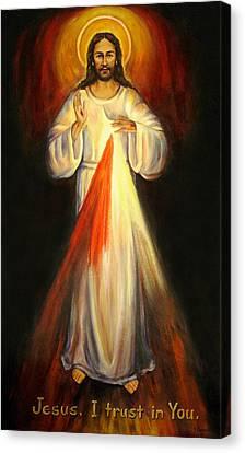 Divine Mercy Canvas Print by Sheila Diemert