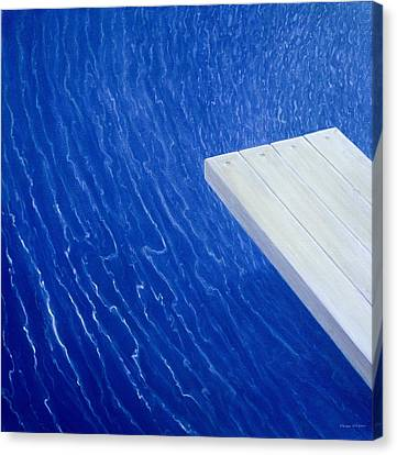 Diving Board 2004 Canvas Print by Lincoln Seligman